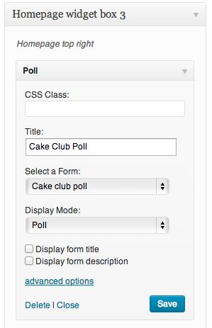 Poll widget
