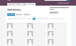 Staff directory development