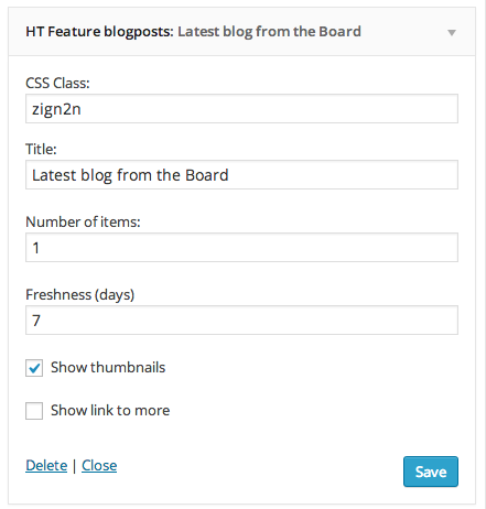 HT Feature blogposts widget