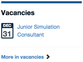 Vacancies listing widget