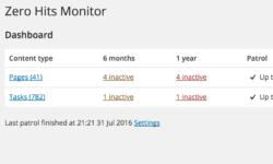 Zero Hits Monitor updates